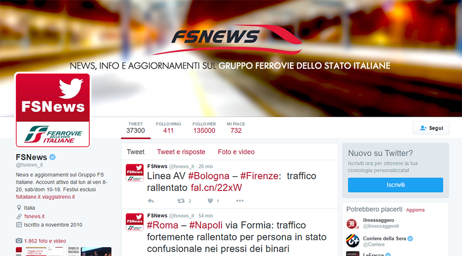Trenitalia Community Mnagement