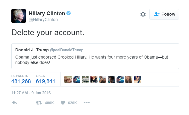 Clinton vs Trump sui Social Media.